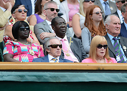 © Licensed to London News Pictures. 23/06/2014. Wimbledon, UK Sir Jackie Stewart. Andrew Murray, GB defeats David Goffin, Belgium in the 1st round at the Wimbledon Tennis Championships 23rd June 2014. Photo credit : Mike King/LNP