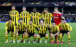 The Young Boys team photo  - Photo mandatory by-line: Matt McNulty/JMP - Mobile: 07966 386802 - 26/02/2015 - SPORT - Football - Liverpool - Goodison Park - Everton v Young Boys - UEFA EUROPA LEAGUE ROUND OF 32 SECOND LEG