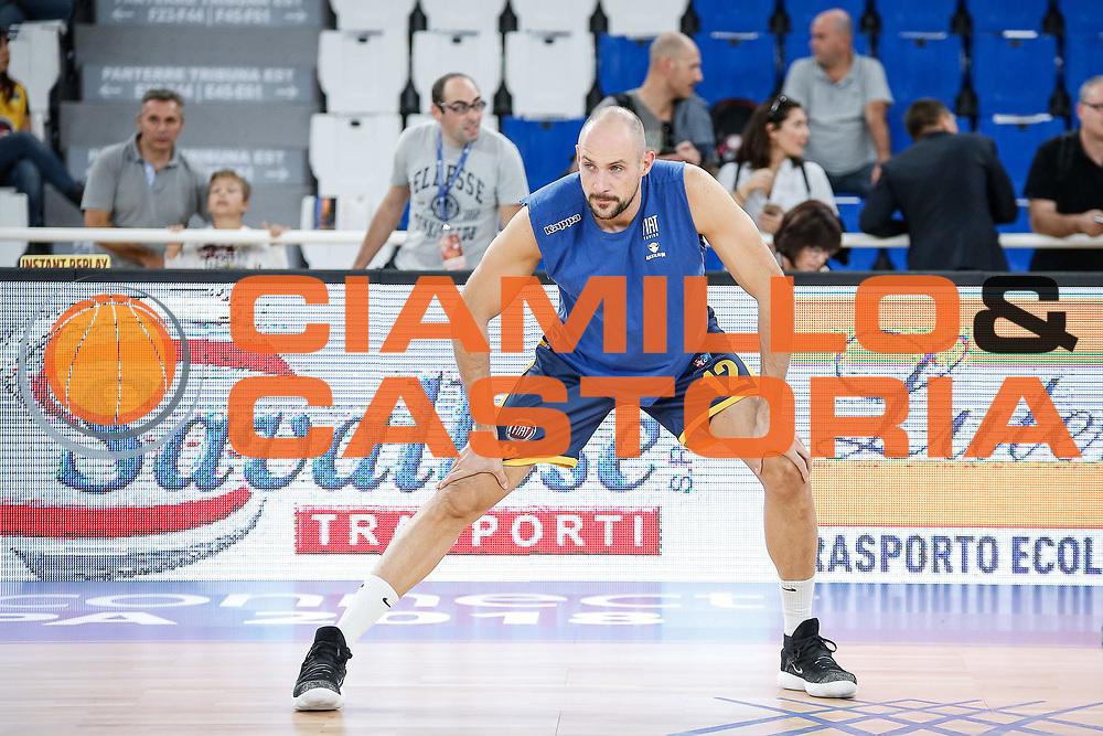 Cusin Marco<br /> A|X Armani Exchange Milano - Fiat Torino<br /> Zurich Connect Supercoppa 2018-2019<br /> Lega Basket Serie A<br /> Brescia 30/09/2018<br /> Foto Ciamillo & Castoria