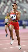 Salwa Eid Naser (BRN) wins the women's 400m in 51.39 during the Asian Athletics Championships in Doha, Qatar, Saturday, April,21, 2019. (Jiro Mochizuki/Image of Sport)