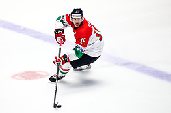 Janos Hari of Hungary during ice hockey match between Lithuania and Hungary at IIHF World Championship DIV. I Group A Kazakhstan 2019, on May 2, 2019 in Barys Arena, Nur-Sultan, Kazakhstan. Photo by Matic Klansek Velej / Sportida