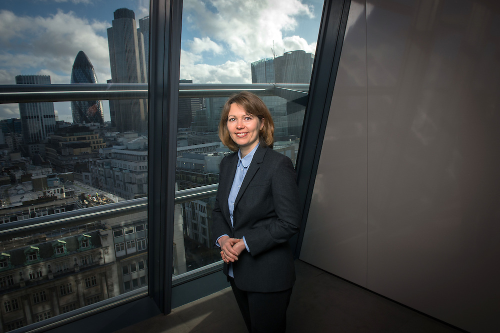 Julia Bereshchenko from Kiev, Ukraine, photographed at the UniCredit offices in Central London, United Kingdom.