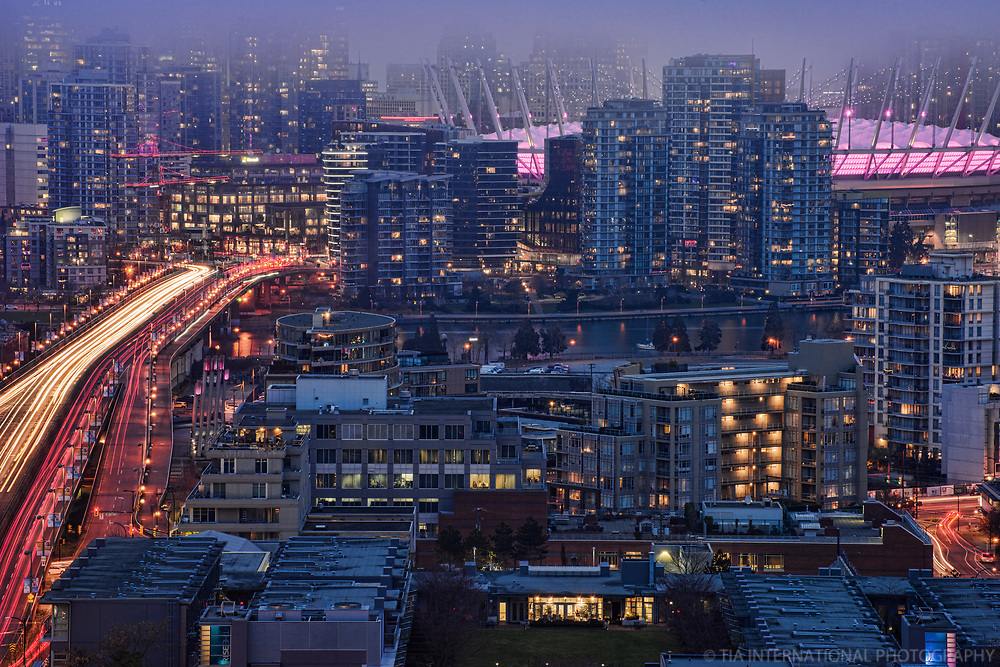 Cambie Bridge, Olympic Village & BC Place