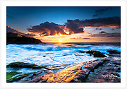 A stunning spring sunrise at Tamarama Beach [Tamarama, NSW, Australia]<br />
