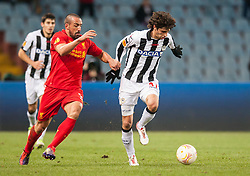 06.12.2012, Stadio Friuli, Udine, ITA, UEFA EL, Udinese Calcio vs FC Liverpool, Gruppe A, im Bild Jose Enrique (# 03, Liverpool FC), Diego Fabbrini (# 31, Udinese Calcio) // during the UEFA Europa League group A match between Udinese Calcio and Liverpool FC at the Stadio Friuli, Udinese, Italy on 2012/12/06. EXPA Pictures © 2012, PhotoCredit: EXPA/ Juergen Feichter