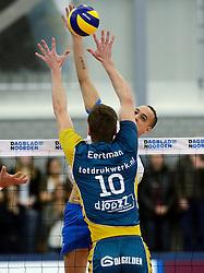 24-03-2013 VOLLEYBAL: ABIANT LYCURGUS - LANDSTEDE VOLLEYBAL: GRONINGEN<br /> Play-off finale best of 5 - Zwolle wint de vierde wedstrijd met 3-2 / Fabian Dossett<br /> &copy;2013-FotoHoogendoorn.nl