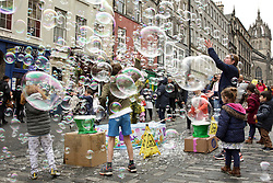 Bubbles filled the air in Edinburgh's Royal Mile during the Open Streets event. Pic copyright Terry Murden @edinburghelitemedia