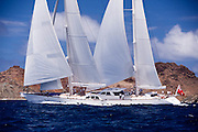 Ethereal Sailing in the 2011 St. Barths Bucket Race 2.