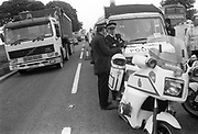 A46 police officers, Solsbury Hill, Somerset, UK, 1994.