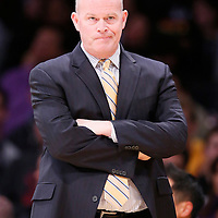 31 January 2014: Charlotte Bobcats head coach Steve Clifford is seen during the Charlotte Bobcats 110-100 victory over the Los Angeles Lakers at the Staples Center, Los Angeles, California, USA.