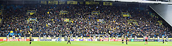 supporters of Vitesse with banner during the UEFA Europa League group K match between Vitesse Arnhem and Lazio Roma at Gelredome on September 14, 2017 in Arnhem, The Netherlands