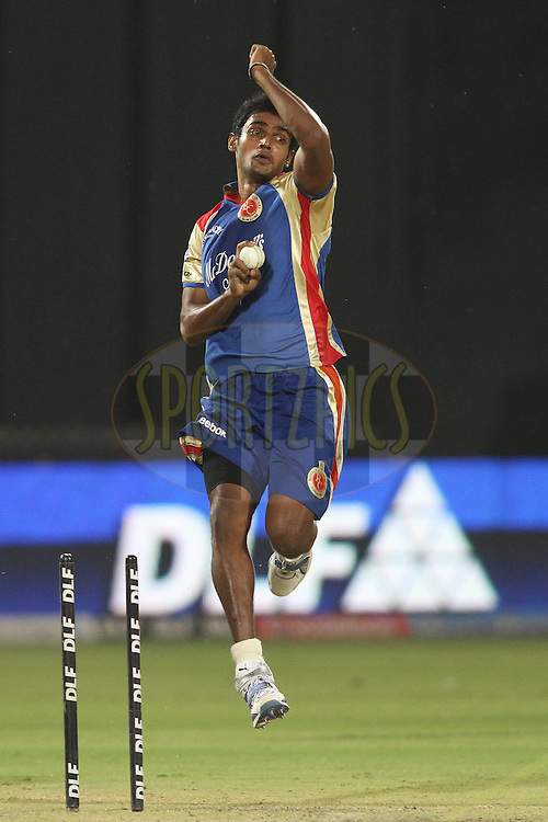 Abhimanyu Mithun of the Royal Challengers Bangalore during the training session of the Royal Challengers Bangalore held at the Feroz Shah Kotla Stadium in Delhi, India on the 25th April 2011..Photo by Shaun Roy/BCCI/SPORTZPICS