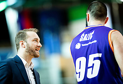 Dejan Jakara, head coach of Helios Suns and Dzoko Salic of Helios Suns during basketball match between KK Hopsi Polzela and KK Helios Suns in semifinal of Spar Cup 2018/19, on February 16, 2019 in Arena Bonifika, Koper / Capodistria, Slovenia. Photo by Vid Ponikvar / Sportida