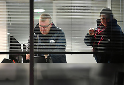 **2018 Pictures of the year by London News Pictures**<br /> © Licensed to London News Pictures. 23/03/2018. London, UK. Enforcement Officers from the Information Commissioner's Office (ICO) are seen inside the London headquarters of data firm Cambridge Analytica. The ICO have just been granted a warrant to allow them to search the office. Cambridge Analytica has been implicated in an investigation into the misuse of Facebook user data to influence the outcome of elections. Photo credit: Ben Cawthra/LNP