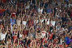 August 1, 2017 - Munich, Germany - Fans on the stands during the second Audi Cup football match between FC Bayern Munich and FC Liverpool in the stadium in Munich, southern Germany, on August 1, 2017. (Credit Image: © Matteo Ciambelli/NurPhoto via ZUMA Press)