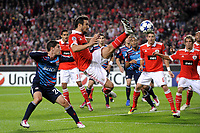 FOOTBALL - CHAMPIONS LEAGUE 2010/2011 - GROUP STAGE - GROUP B - SL BENFICA v OLYMPIQUE LYONNAIS - 2/11/2010 - PHOTO JEAN MARIE HERVIO / DPPI - CESAR PEIXOTO (BEN) / JEREMY PIED (OL)