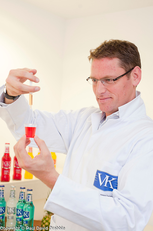 """Andy """"Flavours"""" Laidow working on possible new VK product flavours. His sense of taste and smell are are so keen the company are having Andys tastebuds and sense of smell insured .16 November 2011  Image © Paul David Drabble"""