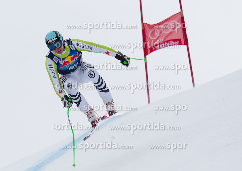 17.01.2012, Hahnenkamm, Kitzbuehel, AUT, FIS Weltcup Ski Alpin, 72. Hahnenkammrennen, Herren, Abfahrt 1. Training, im Bild Andreas Sander (GER) // Andreas Sander of Germany during 1st practice Downhill of 72th Hahnenkammrace of FIS Ski Alpine World Cup at 'Streif' course in Kitzbuhel, Austria on 2012/01/17. EXPA Pictures © 2012, PhotoCredit: EXPA/ Johann Groder