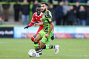 Forest Green Rovers Dominic Bernard(3) on the ball during the EFL Sky Bet League 2 match between Forest Green Rovers and Scunthorpe United at the New Lawn, Forest Green, United Kingdom on 7 December 2019.