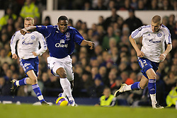 Liverpool, England - Wednesday, December 5, 2007: Everton's Victor Anichebe in action against Zenit St. Petersburg during the UEFA Cup Group A match at Goodison Park. (Photo by David Rawcliffe/Propaganda)
