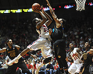 "Ole Miss' Jarvis Summers (32) shoots at the C.M. ""Tad"" Smith Coliseum on Saturday, January 12, 2013. Ole Miss defeated #10 ranked Missouri 64-49."