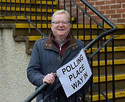 Scottish Conservatives leader Jackson Carlaw casts his vote in Clarkson, Glasgow.<br /> <br /> © Dave Johnston / EEm