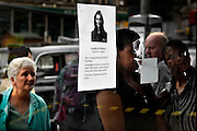 A poster of a missing person on an busstop nearby Kings Cross subwaystation on Saturday July 9, 2005 in London, England. Three subway trains and one bus where bombed two days earlier in London on Thursday Juli 7.