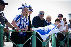 Brighton & Hove Albion fans start to gather along the sea front - Mandatory by-line: Jason Brown/JMP - 14/05/17 - FOOTBALL - Brighton and Hove Albion, Sky Bet Championship 2017 - Brighton and Hove Albion Promotion Parade