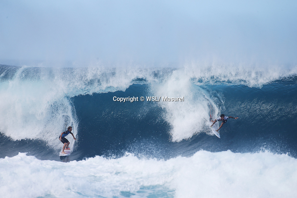 Filipe Toledo and Kai Otton during Round 3.