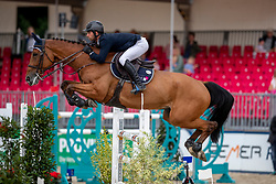ANQUETIN Julien (FRA), GRAVITY OF GREENHILL<br /> Münster - Turnier der Sieger 2019<br /> BRINKHOFF'S NO. 1 -  Preis<br /> CSI4* - Int. Jumping competition  (1.50 m) -<br /> 1. Qualifikation Grosse Tour <br /> Large Tour<br /> 02. August 2019<br /> © www.sportfotos-lafrentz.de/Stefan Lafrentz