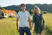 Vail Fletcher and her husband Greg at the Croft, where they have an airbnb rental called La Casita.