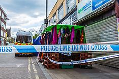 29 Apr 2017 - Blenheim Grove still closed more than 24 hours after Peckham fatal stabbing.