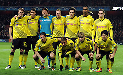 23.11.2011, Emirates Stadion, London, ENG, UEFA CL, Gruppe F, FC Arsenal (ENG) vs Borussia Dortmund (GER), im Bild Borussia Dortmund line up for a team photograph prior to the football match of UEFA Champions league, group F, between FC Arsenal (ENG) and Borussia Dortmund (POR) at Emirates Stadium, London, United Kingdom on 2011/11/23. EXPA Pictures © 2011, PhotoCredit: EXPA/ Sportida/ Chris Brunskill..***** ATTENTION - OUT OF ENG, GBR, UK *****