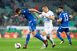 Kostakis Artymatas of Cyprus during football match between National Teams of Slovenia and Cyprus in Final Tournament of UEFA Nations League 2019, on October 16, 2018 in SRC Stozice, Ljubljana, Slovenia. Photo by Urban Urbanc / Sportida