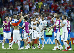 July 1, 2018 - Moscow, Russia - Round of 16 Russia v Spain - FIFA World Cup Russia 2018.Russia team celebrates the victory after the penalties shoot out at Luzhniki Stadium in Moscow, Russia on July 1, 2018. (Credit Image: © Matteo Ciambelli/NurPhoto via ZUMA Press)
