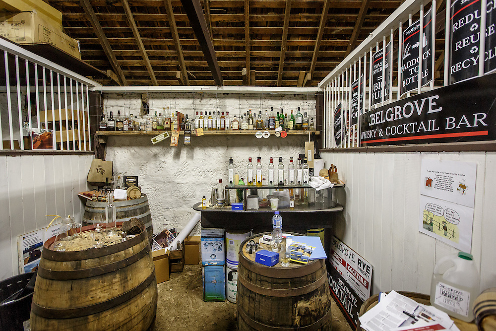 The tasting room at Belgrove Distillery in Kempton, Tasmania, August 25, 2015. The entire distillery is a former stable sub-divided into four sections: still, mashing, tasting room, and bond store. Gary He/DRAMBOX MEDIA LIBRARY