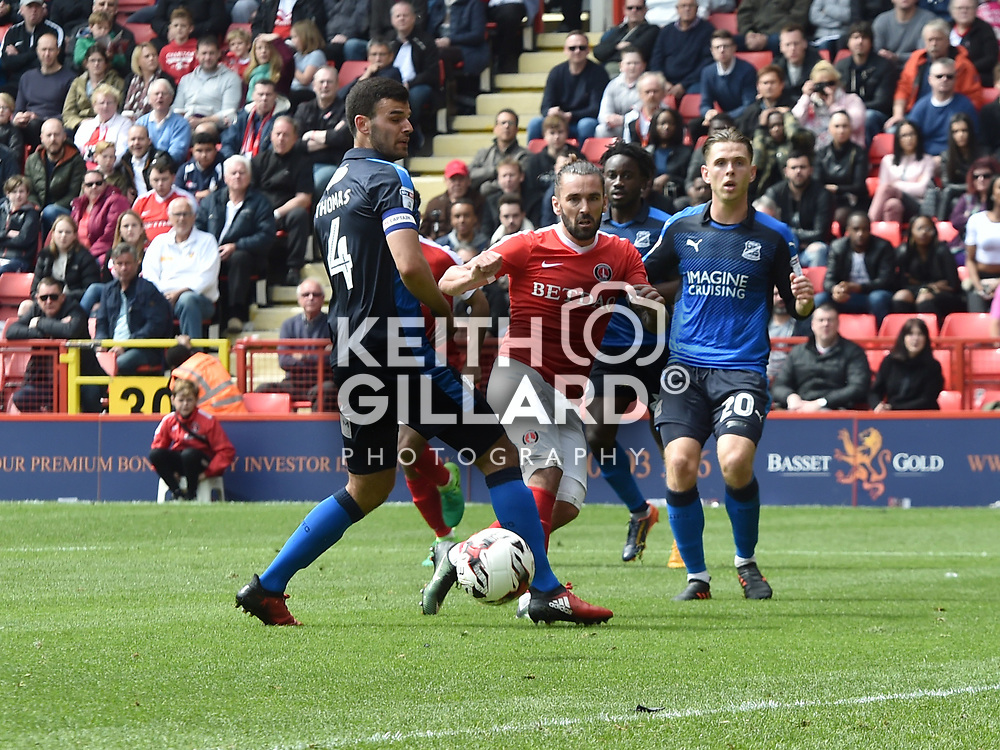Charlton Athletic v Swindon Town, SkyBet League 1 , The Valley, 30 April  2017. <br /> <br /> <br /> Image by Keith Gillard