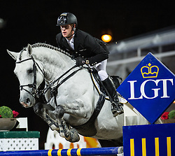 21.09.2013, Rathausplatz, Wien, AUT, Global Champions Tour, Vienna Masters, Springreiten (1.60 m), 1. Durchgang, im Bild Marcus Ehning (GER) auf Cornado NRW // during Vienna Masters of Global Champions Tour, International Jumping Competition (1.60 m), first round at Rathausplatz in Vienna, Austria on 2013/09/21. EXPA Pictures © 2013 PhotoCredit: EXPA/ Michael Gruber