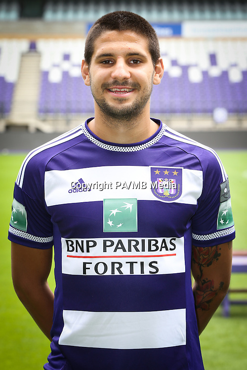 Anderlecht's Alexandar Mitrovic pictured during the 2015-2016 season photo shoot of Belgian first league soccer team RSC Anderlecht, Tuesday 14 July 2015 in Brussels.