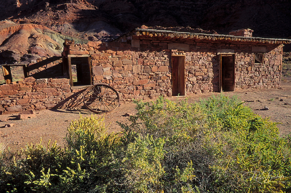 Afternoon light on the fort at Lees Ferry, Lees Ferry National Historic Site, Glen Canyon, Arizona