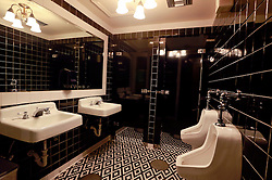 03 Sept 2014. New Orleans, Louisiana. <br /> Bathrooms at Arnaud's French 75 Bar in the French Quarter.<br /> Photo; Charlie Varley/varleypix.com