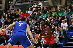 Marcus Delpeche of Bristol Flyers eyes up the basket - Photo mandatory by-line: Arron Gent/JMP - 28/09/2019 - BASKETBALL - Crystal Palace National Sports Centre - London, England - London City Royals v Bristol Flyers - British Basketball League Cup