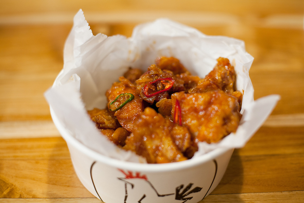 Gangjeong Chicken at bb.q Olive Chicken ($8.65)
