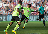 Football - 2016 / 2017 Premier League - West Ham United vs. AFC Bournemouth<br /> <br /> Bournemouth's Joshua King with an attemppt at the West ham goal at The London Stadium.<br /> <br /> COLORSPORT/DANIEL BEARHAM