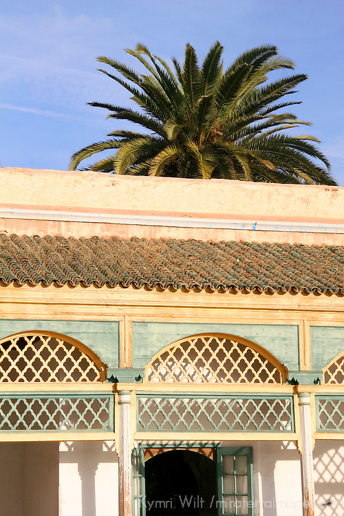 North Africa, Morocco, Marrakesh.  The El Bahia Palace in Marrakesh.