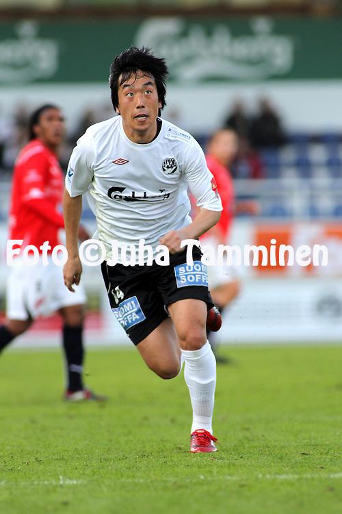 31.05.2010, Tehtaankentt?, Valkeakoski..Veikkausliiga 2010, FC Haka - Myllykosken Pallo-47..Nam Ik Kyung - Haka.©Juha Tamminen.