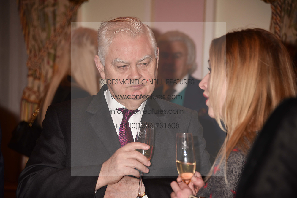Lord Lamont at a reception to celebrate the publication on 'Mother Anguish' by Basia Briggs held in The Music Room, The Ritz Hotel, 150 Piccadilly, London, England. 04 December 2017.