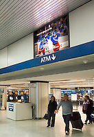 Optimum HD TV ad in New York's Penn Station, 2007.