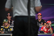 Drivers during the press conference at the Malaysian Formula One Grand Prix in Sepang, Malaysia, Thursday, April 7, 2011.