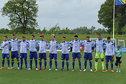 Bosnia line up during the UEFA European Under 17 Championship 2018 match between Bosnia and Republic of Ireland at Stadion Bilino Polje, Zenica, Bosnia and Herzegovina on 11 May 2018. Picture by Mick Haynes.